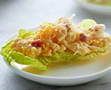 Smashed Egg Lettuce Cups